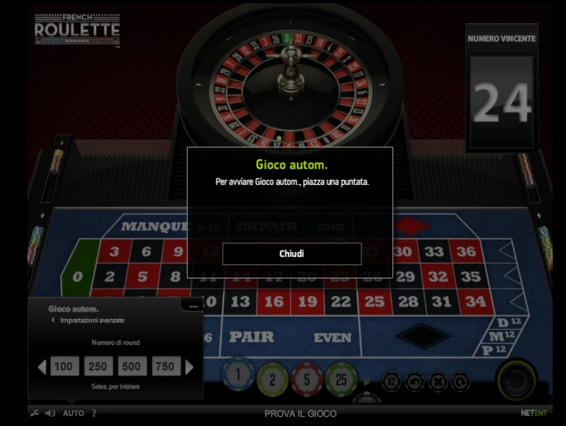 snai-casino - French Roulette